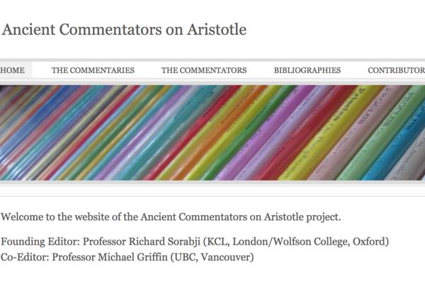 ancient commentators on aristotle